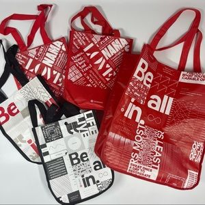 Lululemon Shopping Bags Totes Reusable Large Small